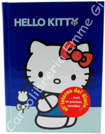 DIARIO HELLO KITTY PAPILLON POCKET Cartonato (cm.12,5x17) 12 MESI 36143 AZZURRO