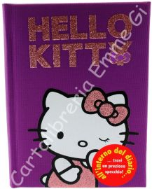 DIARIO HELLO KITTY PAPILLON POCKET Tessuto (cm.12,5x17) 12 MESI 36144 VIOLA