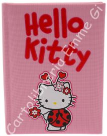 DIARIO HELLO KITTY LADY POCKET Tessuto (cm.12,5x17) 12 MESI 36045 ROSA