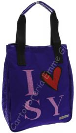 BORSA SHOPPER VERTICALE SWEET YEARS I LOVE 6213 VIOLA
