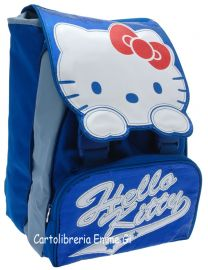 ZAINO HELLO KITTY ESTENSIBILE SHINE 38928 AZZURRO