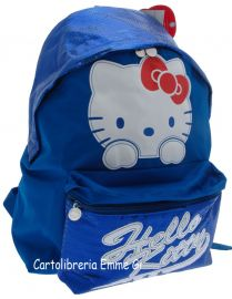 ZAINO AMERICANO HELLO KITTY SHINE 39000 AZZURRO