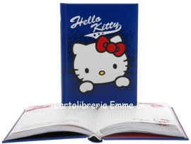 DIARIO HELLO KITTY SHINE POCKET Imbottito (cm.12,5x17) 12 MESI 35484 BLU