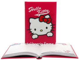 DIARIO HELLO KITTY SHINE POCKET Imbottito (cm.12,5x17) 12 MESI 35484 FUXIA