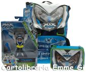 SCHOOL PACK MAX STEEL TURBO (Zaino+Astuccio Triplo) + PERSONAGGIO 1 - 20859