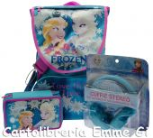 SCHOOL PACK FROZEN LOVE GLOWS (Zaino+Astuccio Triplo) + CUFFIA STEREO 22838
